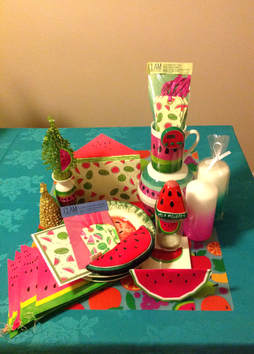 watermelon homage table